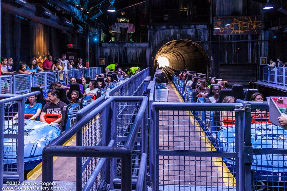 Renamed roller coaster at Six Flags at Dallas, TX