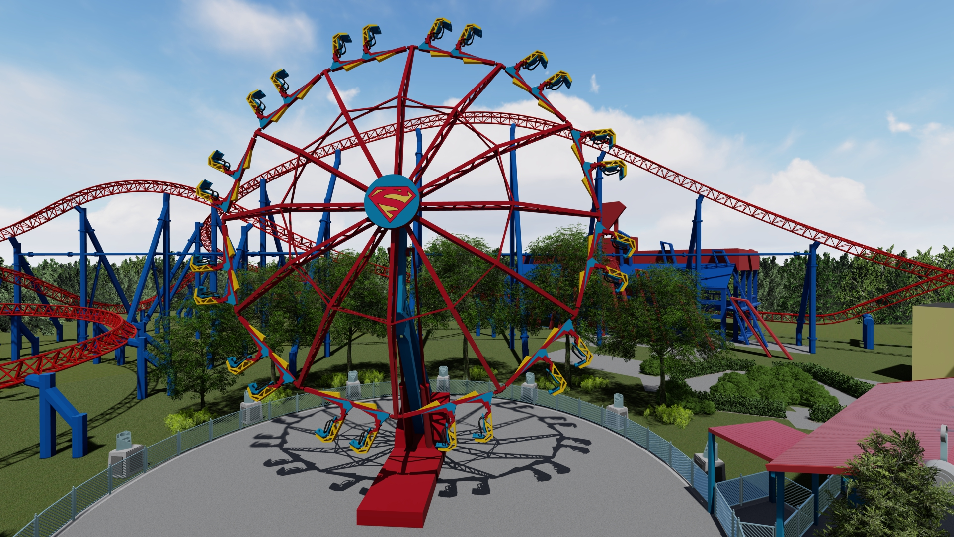 Supergirl: Sky Flyer New for 2020 at Six Flags New England