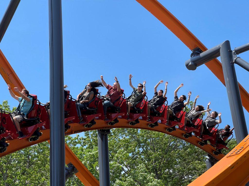 Jersey Devil Coaster Inward Banking Airtime Hill Shot 2