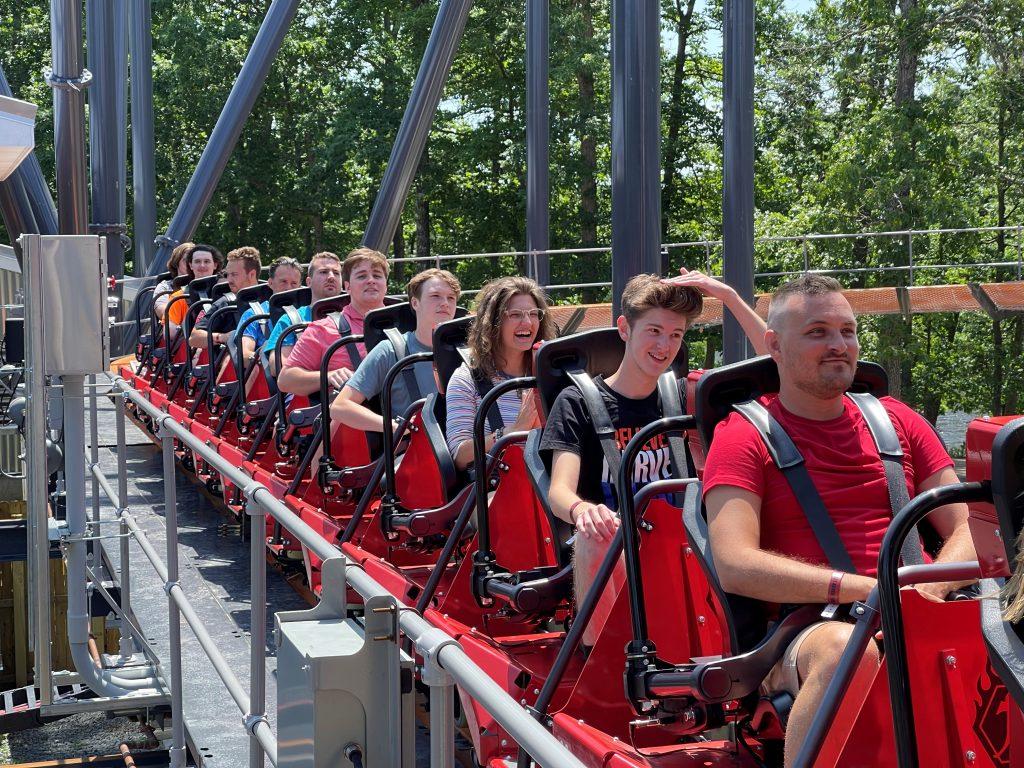 Jersey Devil Coaster Break Run Close-Up