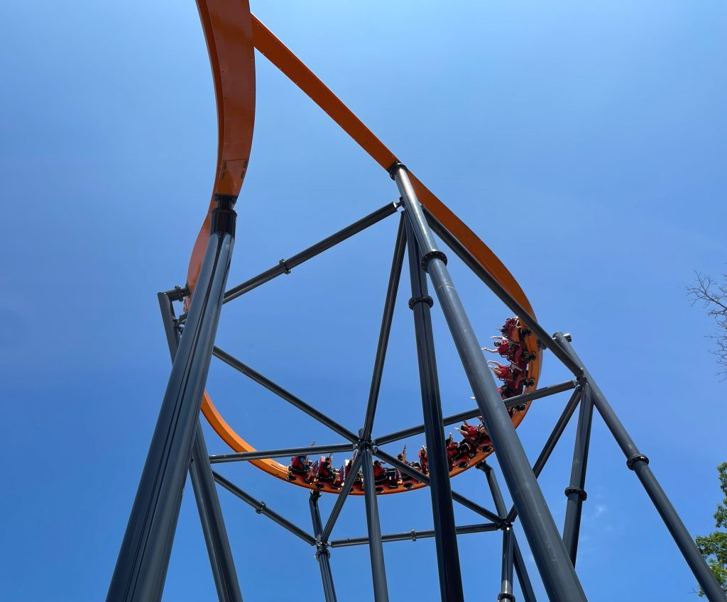 Jersey Devil Coaster Overbanked Cutback From Below