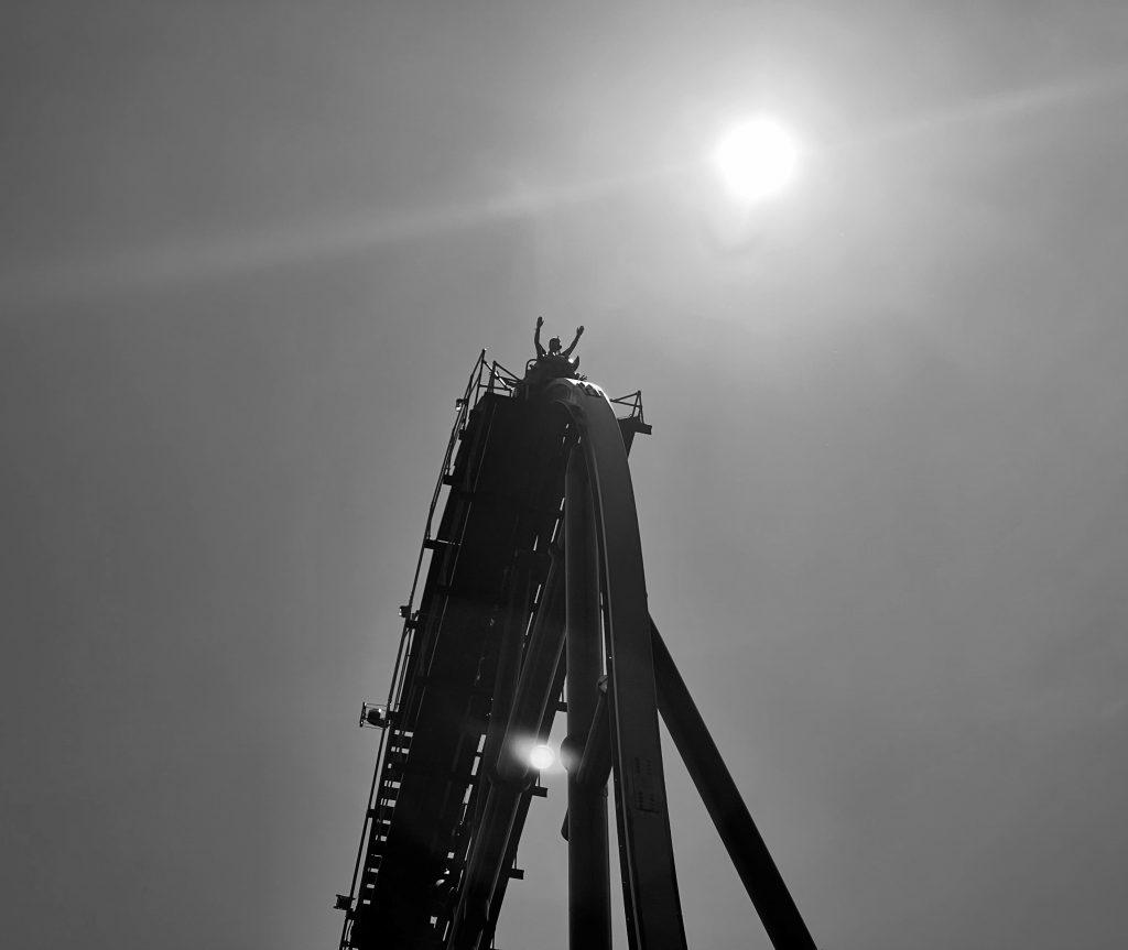 Jersey Devil Coaster Cresting The Lift Shot 2