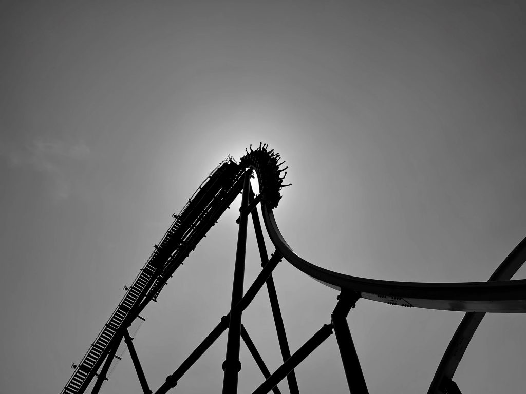 Jersey Devil Coaster 87-Degree First Drop Blackout