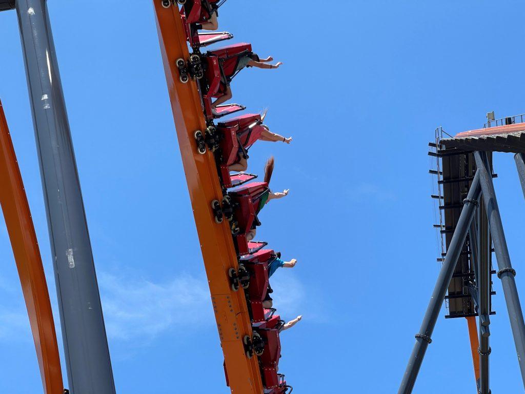 Jersey Devil Coaster Exiting Zero-G Roll Shot 1