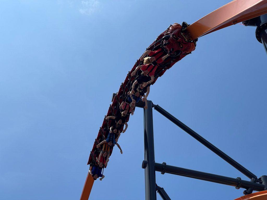 Jersey Devil Coaster 180-Degree Stall Close-Up