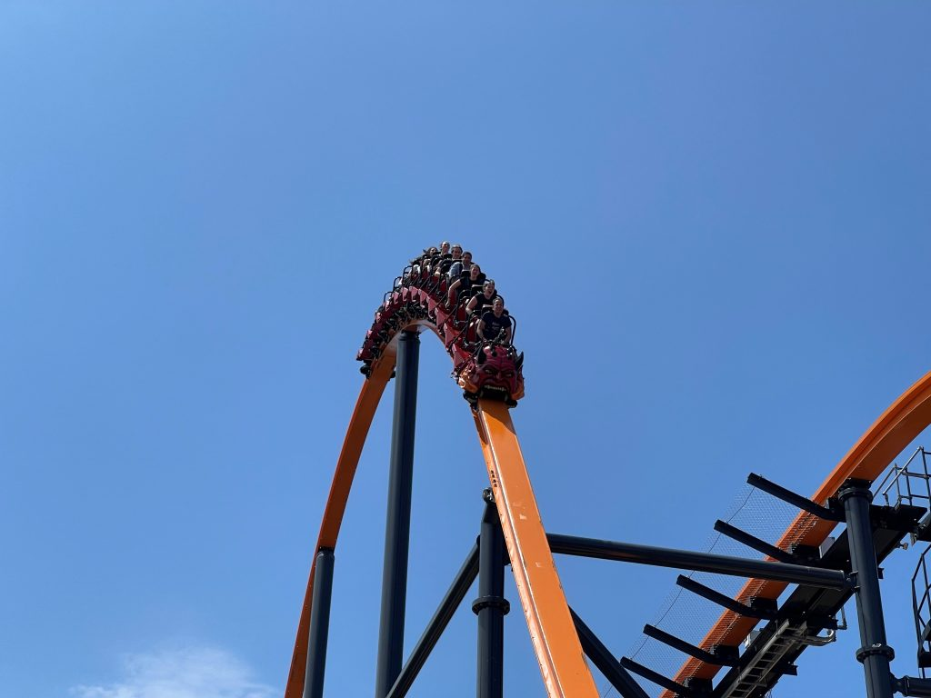Jersey Devil Coaster First Airtime Hill
