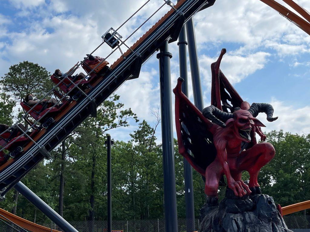 Jersey Devil Coaster Queue Statue