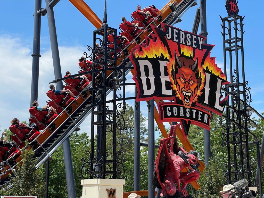 Jersey Devil Coaster Queue Entrance