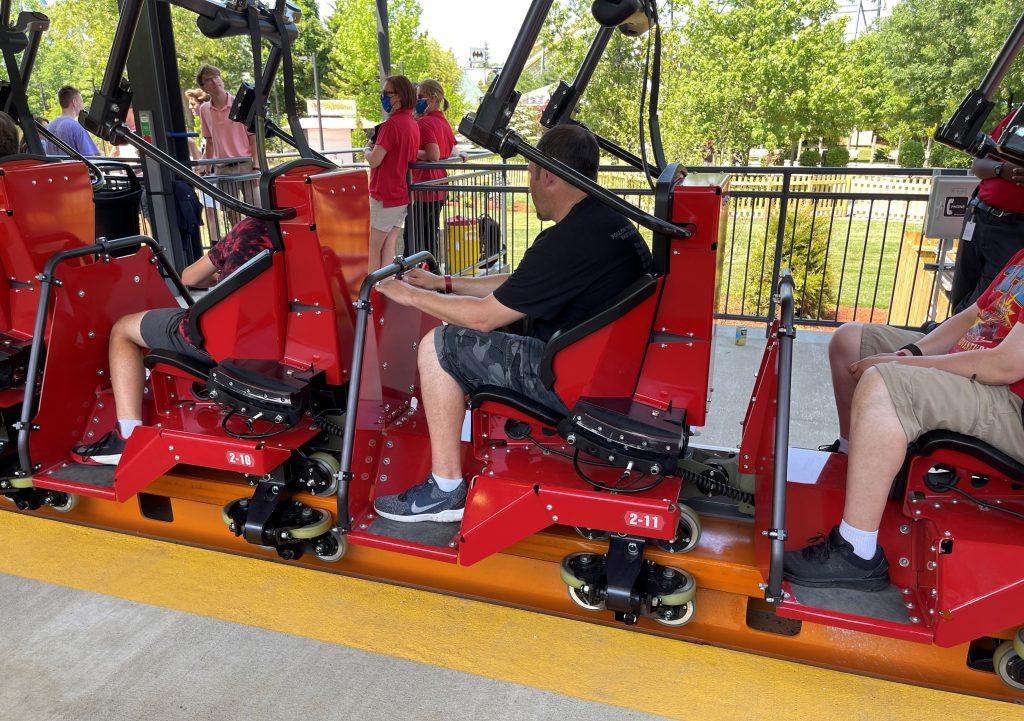 Jersey Devil Coaster Train Seats Side